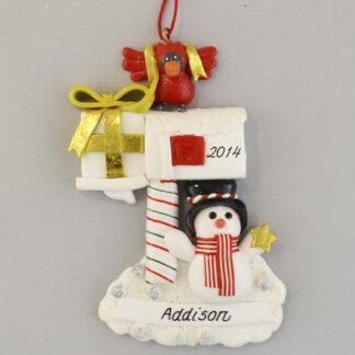 Mailbox New Home Personalized Christmas Ornament