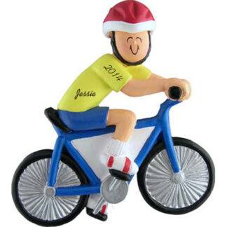 Bike Rider Male Personalized Christmas Ornament