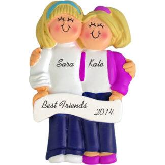 Friends: Both Blonde Hair Personalized Christmas Ornament