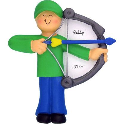 Archery: Male Personalized christmas Ornament