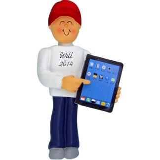 Touch Tablet: Male Personalized christmas Ornament