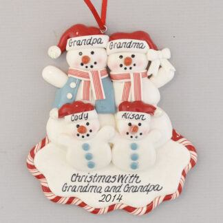 Two Grandchildren For Grandparents personalized christmas Ornament