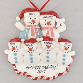 Four Grandchildren for Grandparents personalized christmas Ornament
