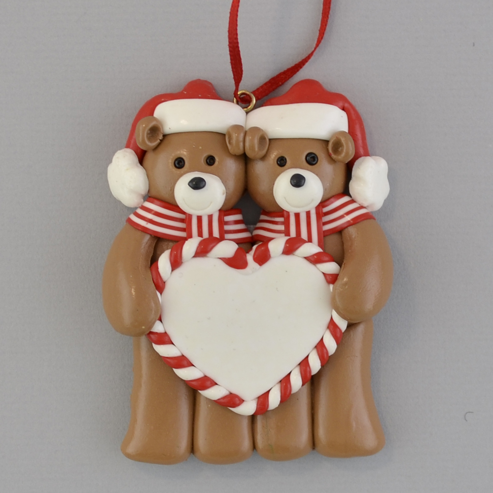 bear couple personalized christmas ornament