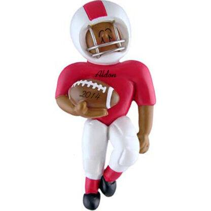 Football Player: Red Uniform Personalized christmas Ornament