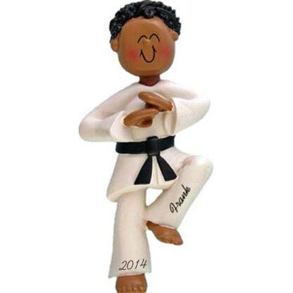 Karate: Male Personalized Christmas Ornament