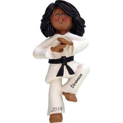 Karate: Female Personalized christmas Ornament
