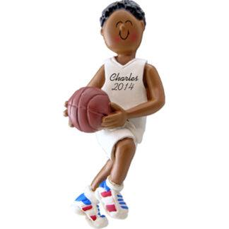 Basketball Player: Male Personalized christmas Ornament