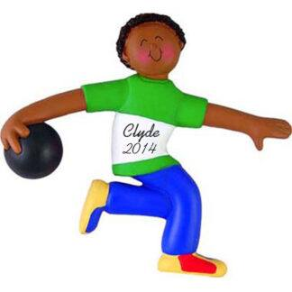 Bowler: Male Personalized christmas Ornament