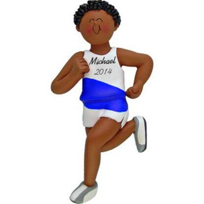 Runner: Male, Personalized Christmas Ornament