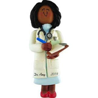 Doctor: Female Personalized christmas Ornament