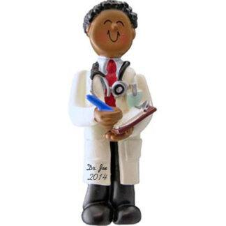 Doctor: Male Personalized Christmas Ornament