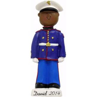 Armed Forces, Marine, Male Personalized christmas Ornament
