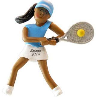 Tennis Player Female Personalized christmas Ornament