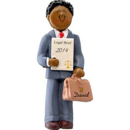 Lawyer: Male Personalized christmas Ornament