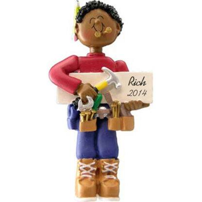 Carpenter: Male Personalized christmas Ornament
