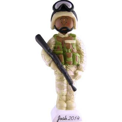 Armed Forces in Fatigues: Male Personalized christmas Ornament