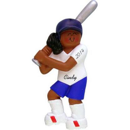 Softball Player Female Personalized christmas Ornament