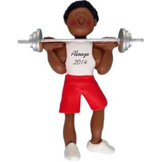Weightlifter: Male Personalized christmas Ornament