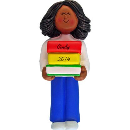 Reader: Ethnic Girl Personalized christmas Ornament