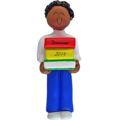 Reader: Ethnic Boy Personalized christmas Ornaments
