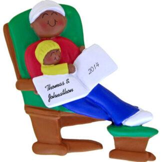 Glider: Male Personalized christmas Ornament