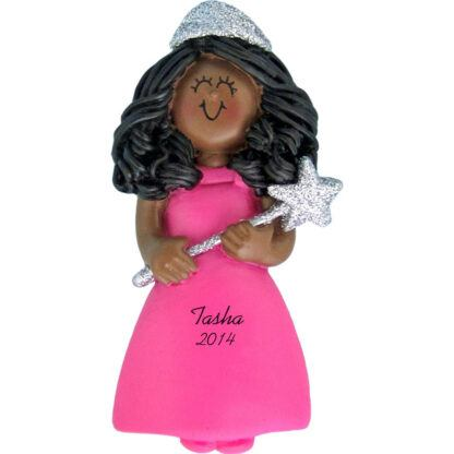 Princess with Glitter Ethnic Girl Personalized christmas Ornament