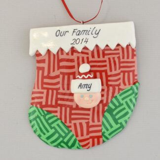 holiday stocking for one person personalized christmas ornament