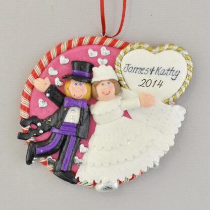 personalized wedding christmas ornament