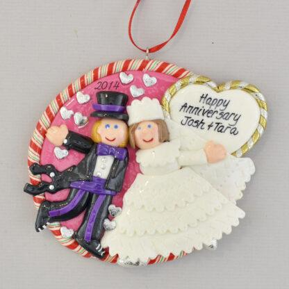 personalized married first christmas ornament