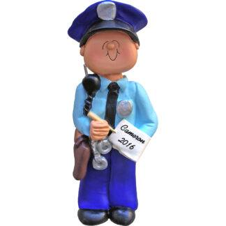 policeman personalized christmas ornament