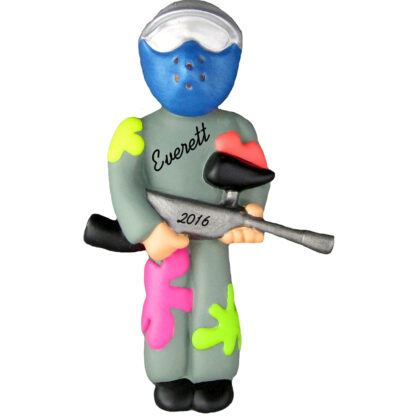Paintball personalized christmas ornament