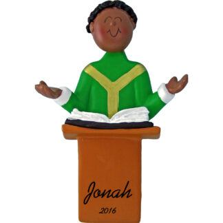 priest african american personalized christmas ornament