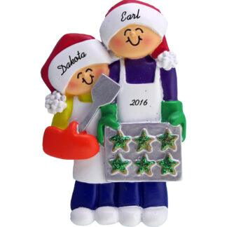 baking cookies personalized christmas ornament 2 people