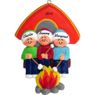 couple camping personalized christmas ornament